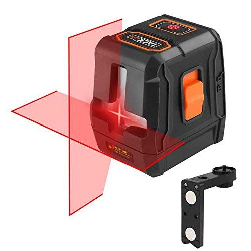 TACKLIFE ラインレーザー 赤色 垂直・水平・十字 クロスラインレーザー レーザー墨出し器 自動水平調整機能 ライン出射角120° 高精度 強磁性きマウントベース付き ミニ型 2年保証 SC-L07
