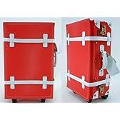トラベルスーツケース【28L:約1~3泊用】レッドxホワイト・トランクケース・旅行かばん・旅行・出張・ビジネス
