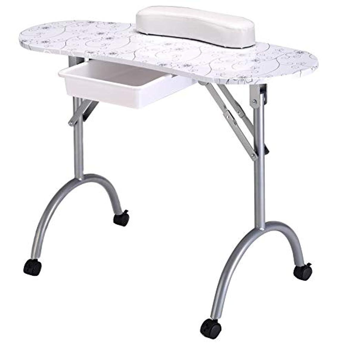 検出器フレアメッセージマニキュアテーブルプロフェッショナルネイルテーブル折りたたみポータブル機器用ツールネイルサロンwithbagネイルアートビューティーサロン家具