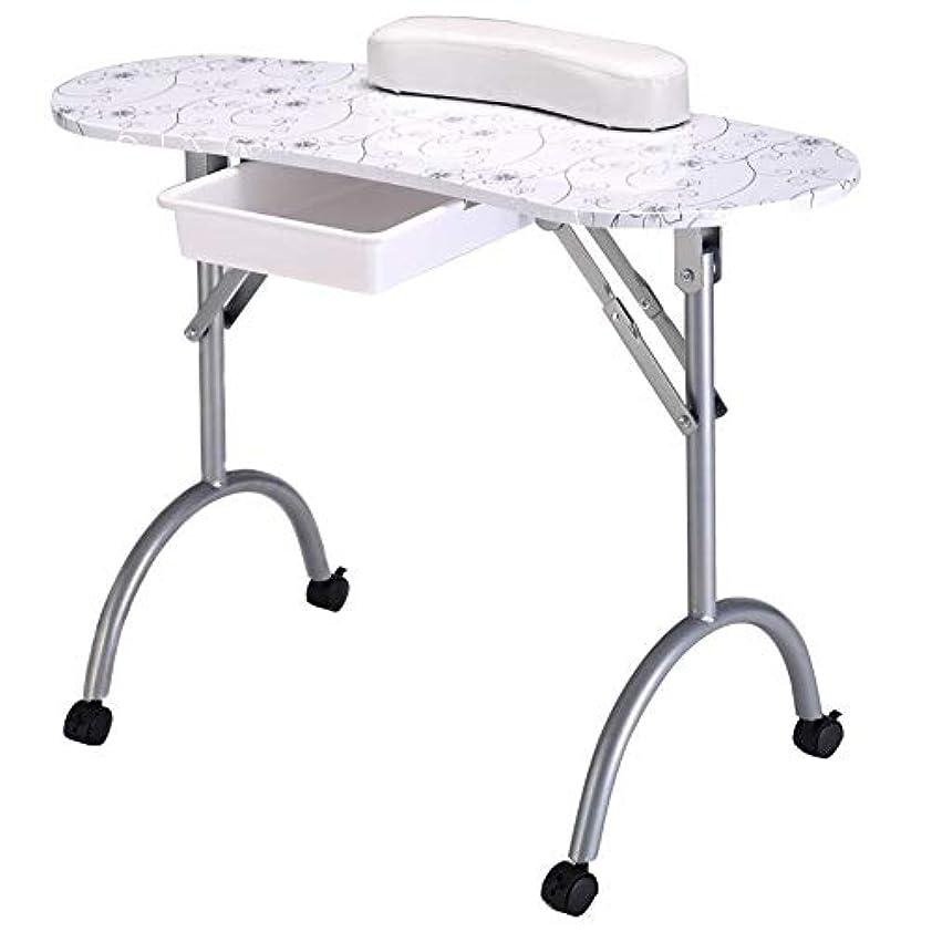 上がる十分何故なのマニキュアテーブルプロフェッショナルネイルテーブル折りたたみポータブル機器用ツールネイルサロンwithbagネイルアートビューティーサロン家具
