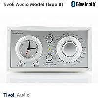 Tivoli Audio チボリオーディオ Model Three BT (ホワイト/シルバー) M3BT-1774-JP <Bluetoothワイヤレス アラームクロック付き AM/FMラジ・スピーカー>