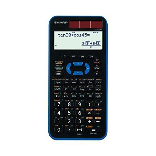 (まとめ) シャープ SHARP スタンダード関数電卓 10桁 ハードケース付 ブルー EL-509M-AX 1台 【×2セット】 生活用品 インテリア 雑貨 文具 オフィス用品 電卓 top1-ds-1583156-ah [簡素パッケージ品]