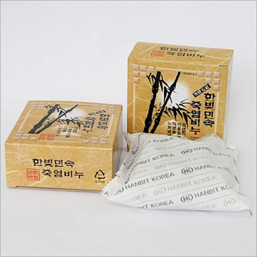 寛容な埋め込む累計(韓国ブランド) 韓国直輸入』竹塩石鹸(3個×5セット)