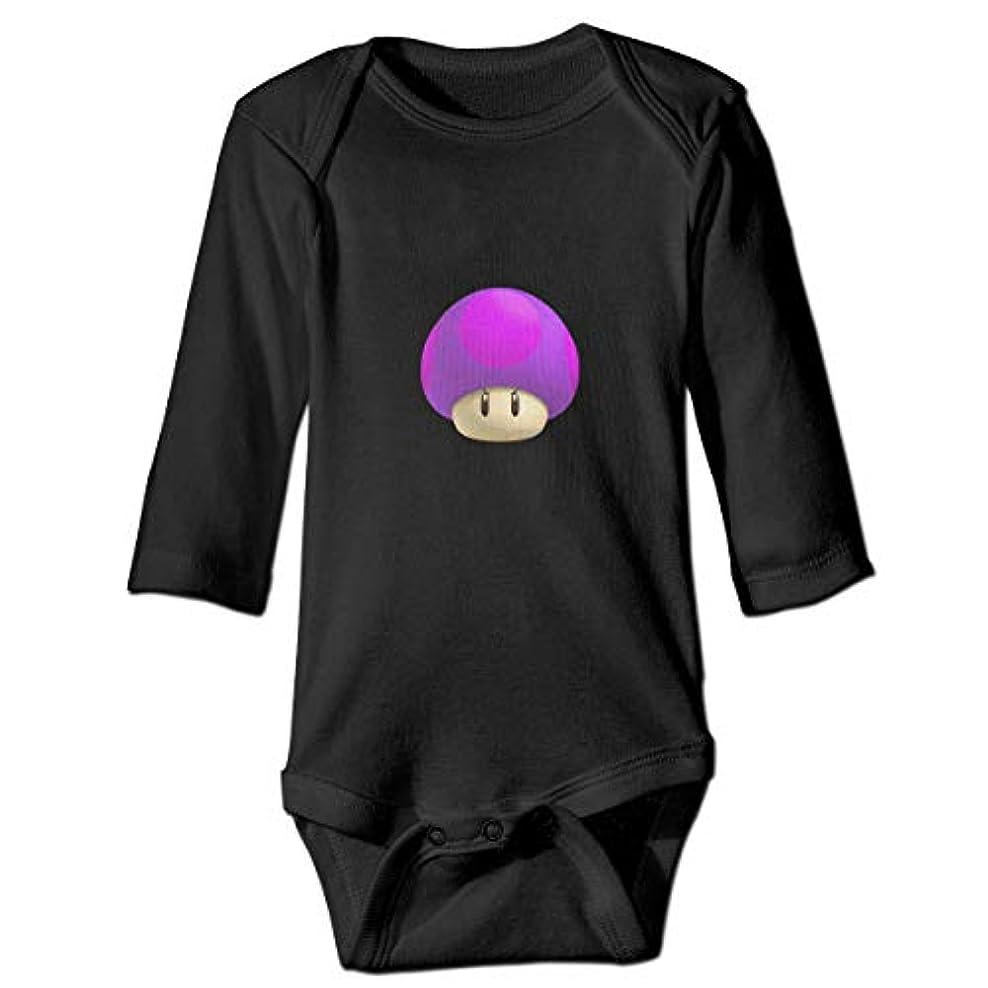 ボイコット他の日クラウンスーパーマリオグリーンマッシュルーム 新生児男の子&女の子長袖ジャンプスーツ0-24ヶ月黒と白