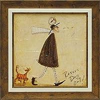 「さまよい人のおでかけ」サムトフト・可愛い雰囲気の特殊ゲル加工アート[絵画通販]