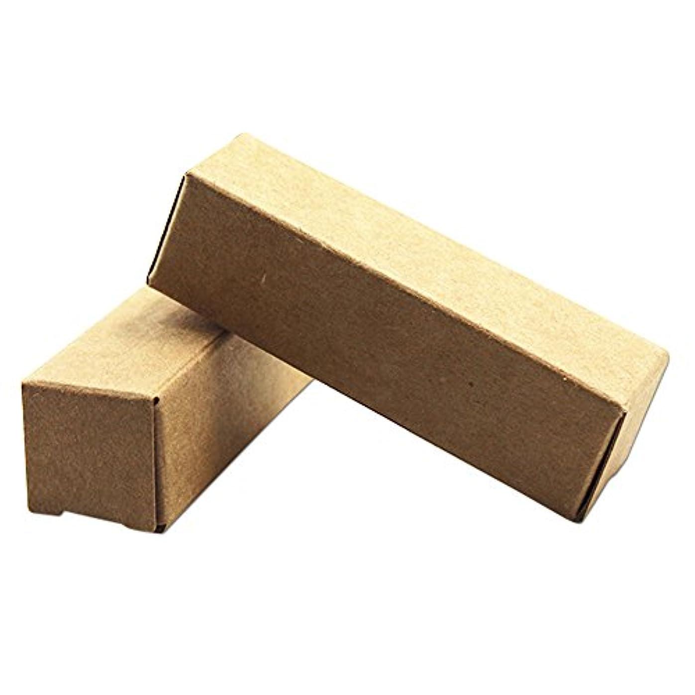 コンクリートバックアップロッド口紅ボトル 段ボール クラフト紙 茶色 包装箱 化粧品 メイクアップ ツールクラフト紙 エッセンシャルオイルクリームボトル ギフト バスケット 折りたたみ 小物 100個入 (2 x 2 x 7 cm)