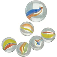 Marbles 49 Plus 1 Shooter Assorted Colours (Pack of 6)
