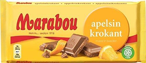 Marabou マラボウ オレンジ 板チョコレート 200g スゥエーデンのチョコレートです [海外直送品] [並行輸入品]