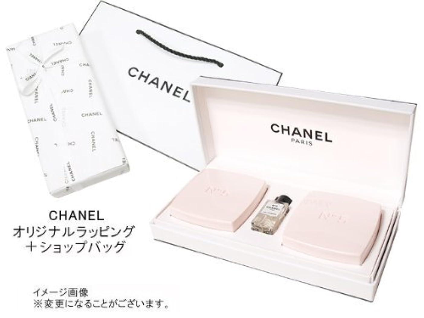 熱狂的な人間年齢CHANEL(シャネル) LES CADEAUX シャネル N゜5ギフトコレクション N゜5 サヴォン(石けん)75g×2 N゜5オープルミエール4ml×1オリジナルラッピング&ショップバッグ付専用ギフトボックス入