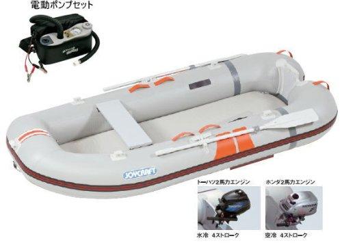ジョイクラフト ワンダーマグ 282 検無 3-4人乗りゴムボート ホンダ2PS4スト エンジン・電動ポンプ付き