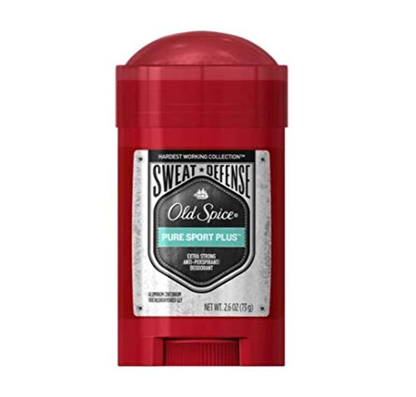 ユニークな自然公園黒くするOld Spice Hardest Working Collection Antiperspirant Deodorant for Men Pure Sport Plus - 2.6oz オールドスパイス ハーデスト ワーキング...