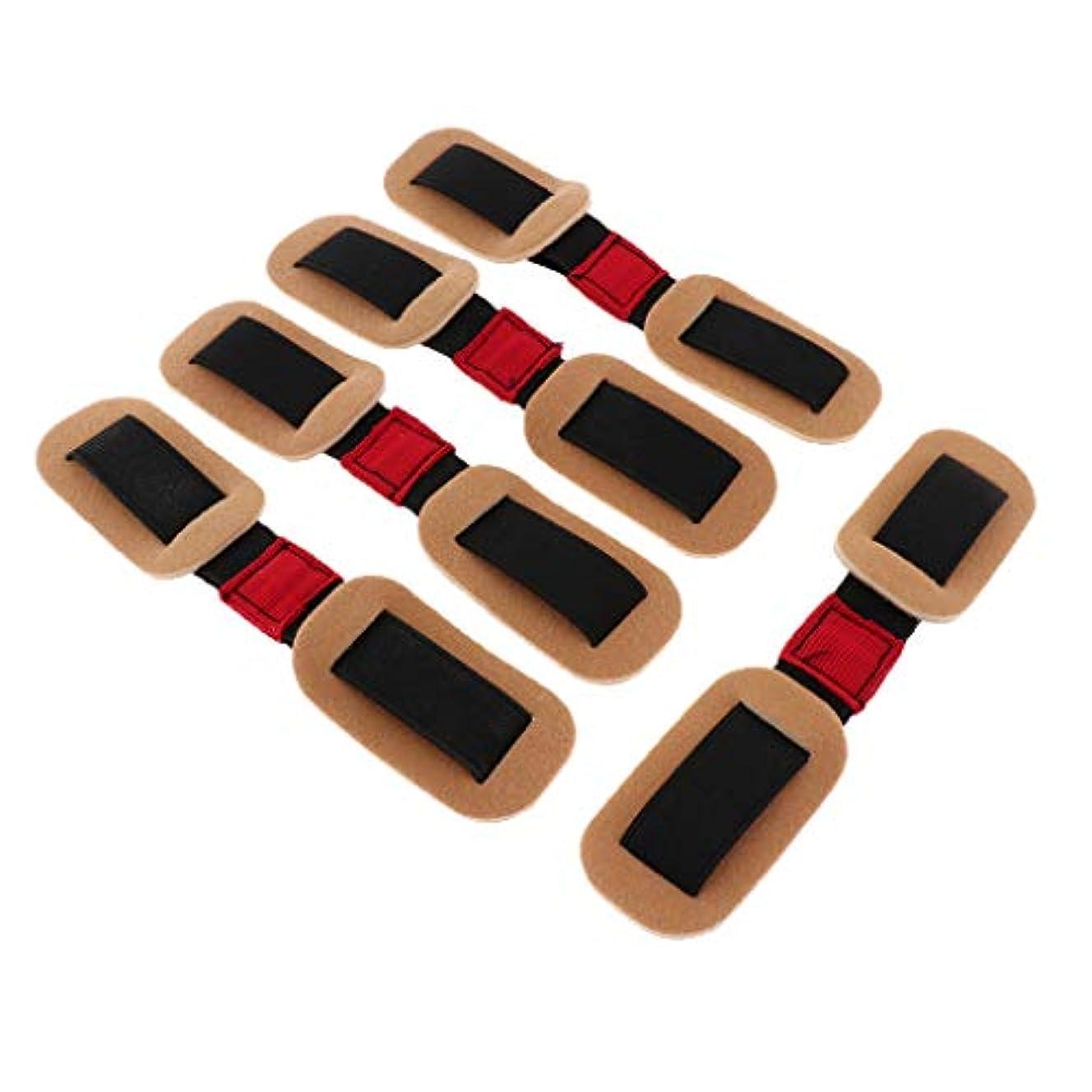 ボタン模倣矢外反母趾サポーター 親指矯正バンド ストラップ トレーニング 柔軟性 耐久性 5個入