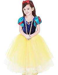 子供用 白雪姫風 ドレス+マント+カチューシャ プリンセス風 ワンピース 女児 女の子 白雪姫風 ドレス 120サイズ