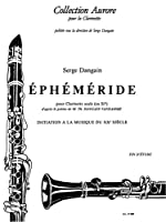 EPHEMERIDE CLARINETTE SIB SEULE (COLLECTION AURORE)