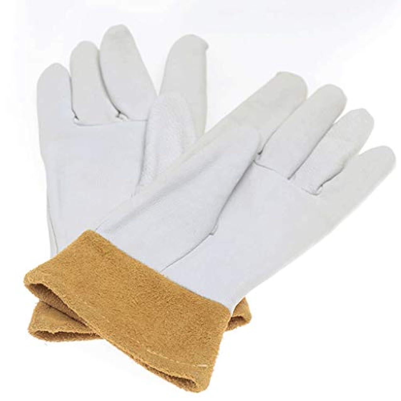 基本的な移動するアルバニー電気溶接用手袋シープスキン溶接機保護用増粘絶縁アルゴンアーク溶接用手袋 (サイズ さいず : XL)