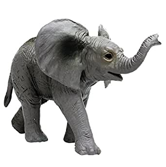 プラッツ My Little Zoo アフリカゾウ (子) 全長約75mm 彩色済み動物フィギュア MJP387002
