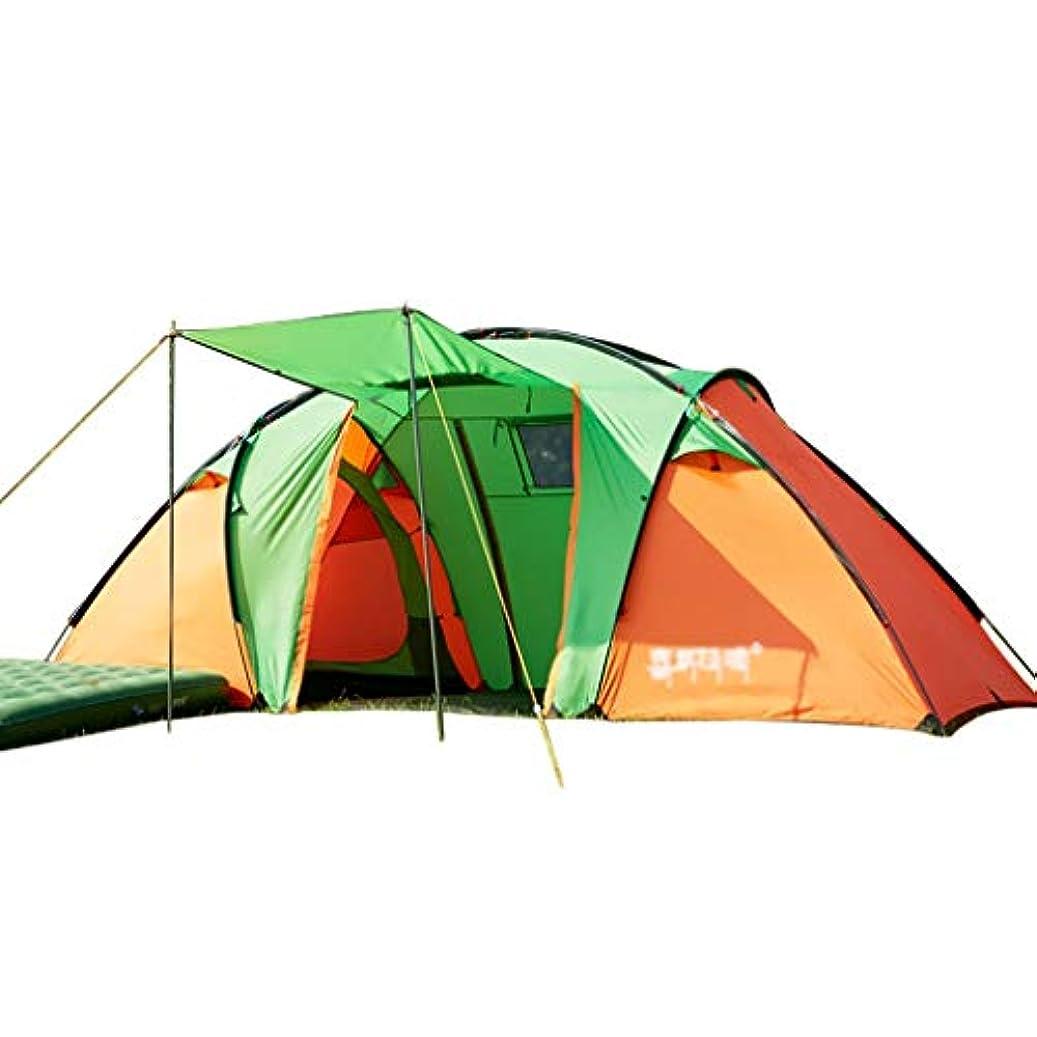 かび臭いご注意等しいテント?タープ/テント テント品質トンネルテントキャンプキャンプテント5-6-8大テント二部屋一ホール野生テント防水雨テント (Color : Green, Size : 460*230*190cm)