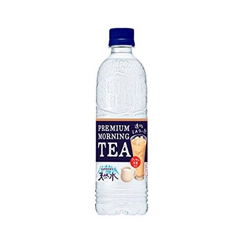 サントリー天然水 PREMIUM MORNING TEA ミルク PET 550ml×24本入
