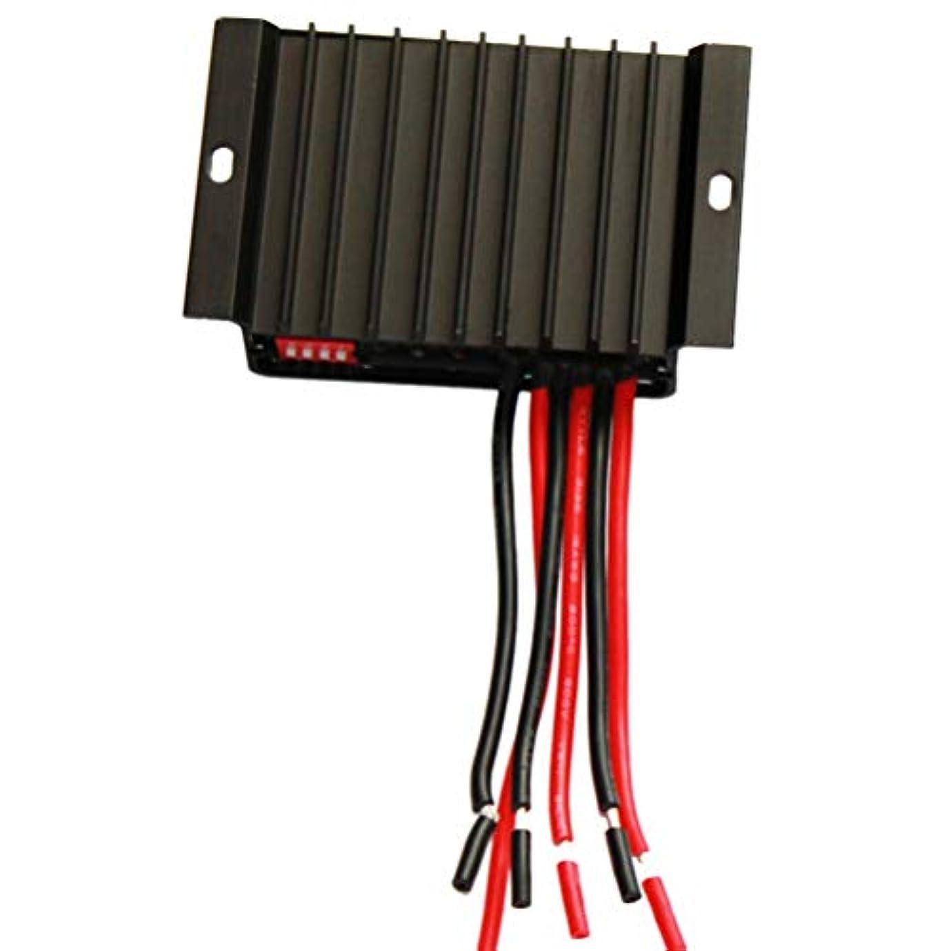 ダーベビルのテス棚に対してYardwe ソーラーパネル充電コントローラー10a 12V 24Vソーラー調整可能パラメーターインテリジェントバッテリーソーラーコントローラーレギュレーターpwm