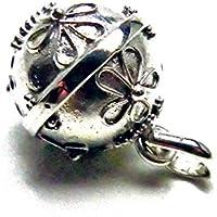 [Silver925]RainbowSpiritお花flower模様のガムランボール:ジャワンタイプ(SSサイズ)
