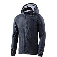メンズ 日焼け止めジャケット アウトドアウェア UVカット スポーツ ジャケット UPF 50+ 防風、通気性、超軽量、速乾性の特性を持つ
