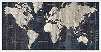ポスター アーティスト不明 Old World Map Blue 額装品 アルミ製ハイグレードフレーム