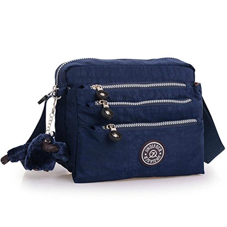 happy-JP ショルダーバッグ 斜めがけ ナイロン バッグ レディース トラベル 鞄 メンズ 大容量 防水 多機能 小物整理 通勤 通学 8色