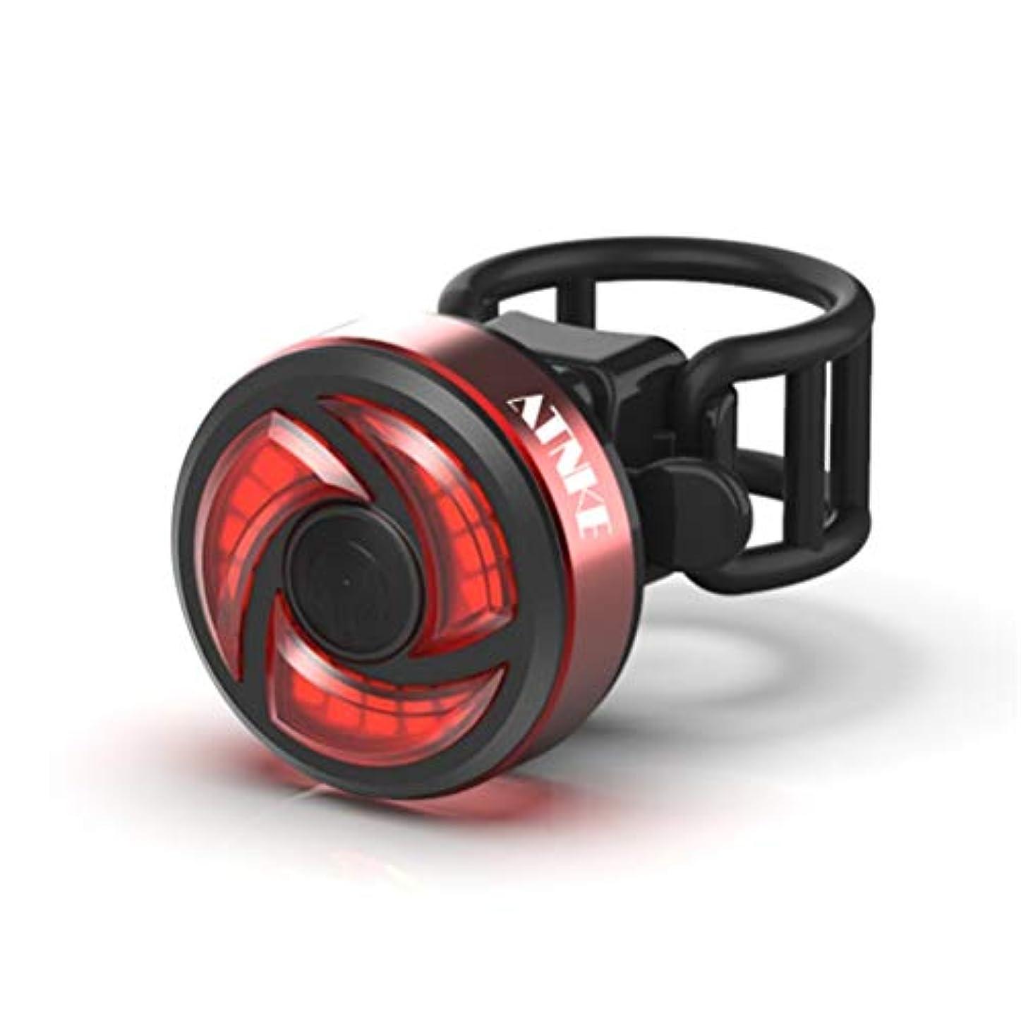 はぁ恋人恐ろしいATNKE テールライト USB充電式 インテリジェントインダクションブレーキライト 自動点灯·消灯機能付き 最大4.5時間持続点灯 LEDライト軽量 高輝度 100ルーメン IPX8防水仕様 夜間視界が1000メートル以上夜間走行の視認性をアピール オートライト搭載自動点滅自転車リアライト