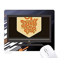 体の器官の小腸 ノンスリップラバーマウスパッドはコンピュータゲームのオフィス