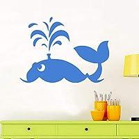 Xbwy オーシャンテーマ大クジラウォールステッカー素敵な動物壁デカール用キッズルーム防水粘着壁紙保育園赤ちゃんデカール60×44センチ