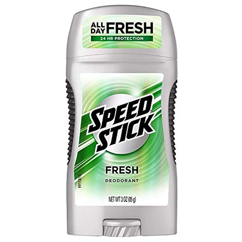 Speed Stick Deodorant, Clear, Fresh, 3 oz, (Case of 6) by Mennen [並行輸入品]