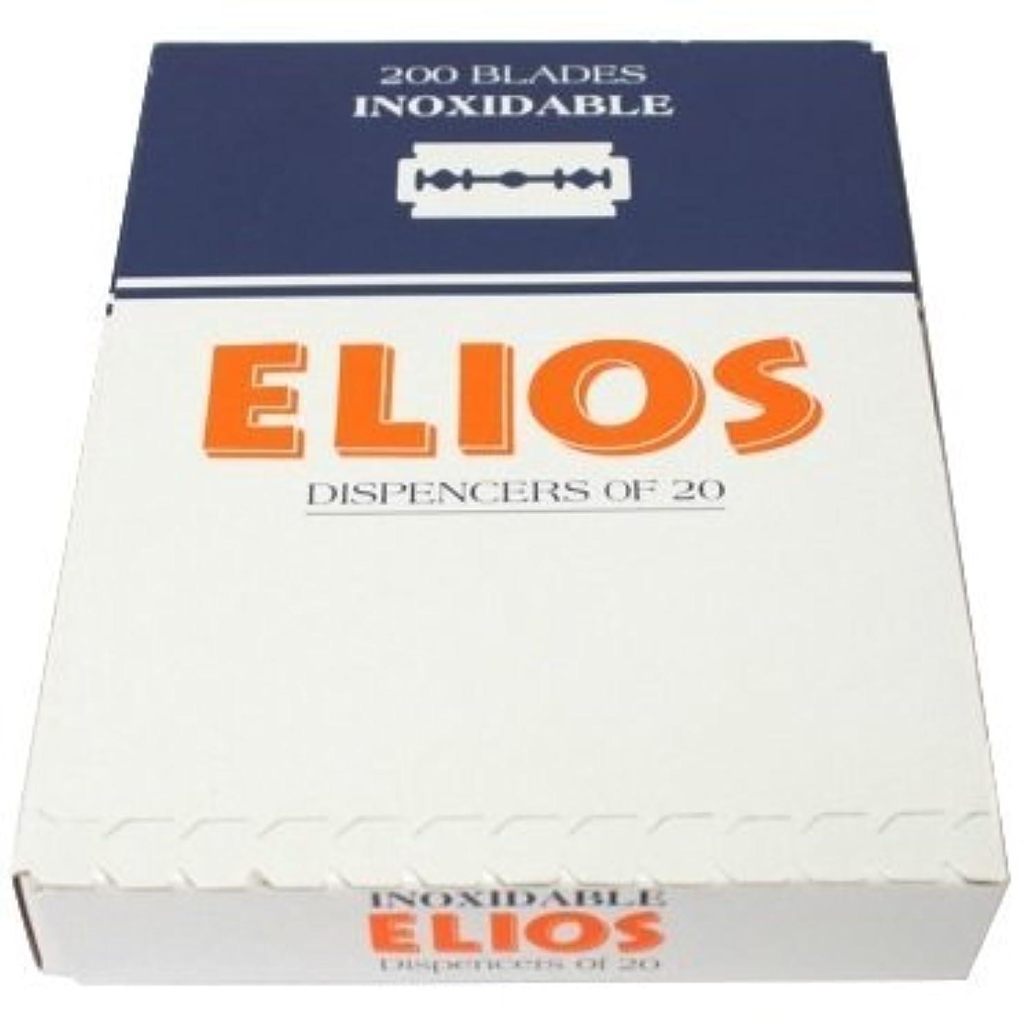 比較的つかまえる前兆Elios Inoxidable 両刃替刃 100枚入り(10枚入り10 個セット)【並行輸入品】