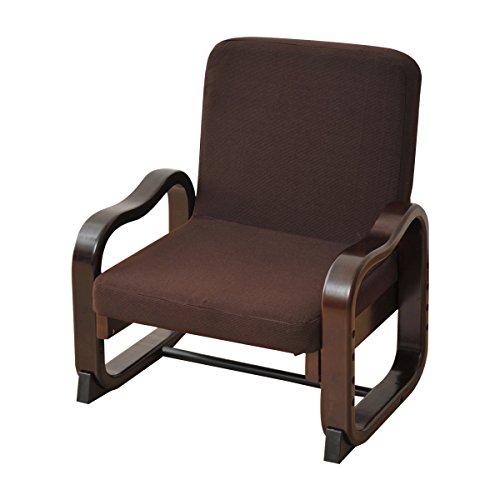 山善(YAMAZEN) 立ち上がり楽々 優しい座椅子(ハイバック) ダークブラウン SKC-56H(DBR)