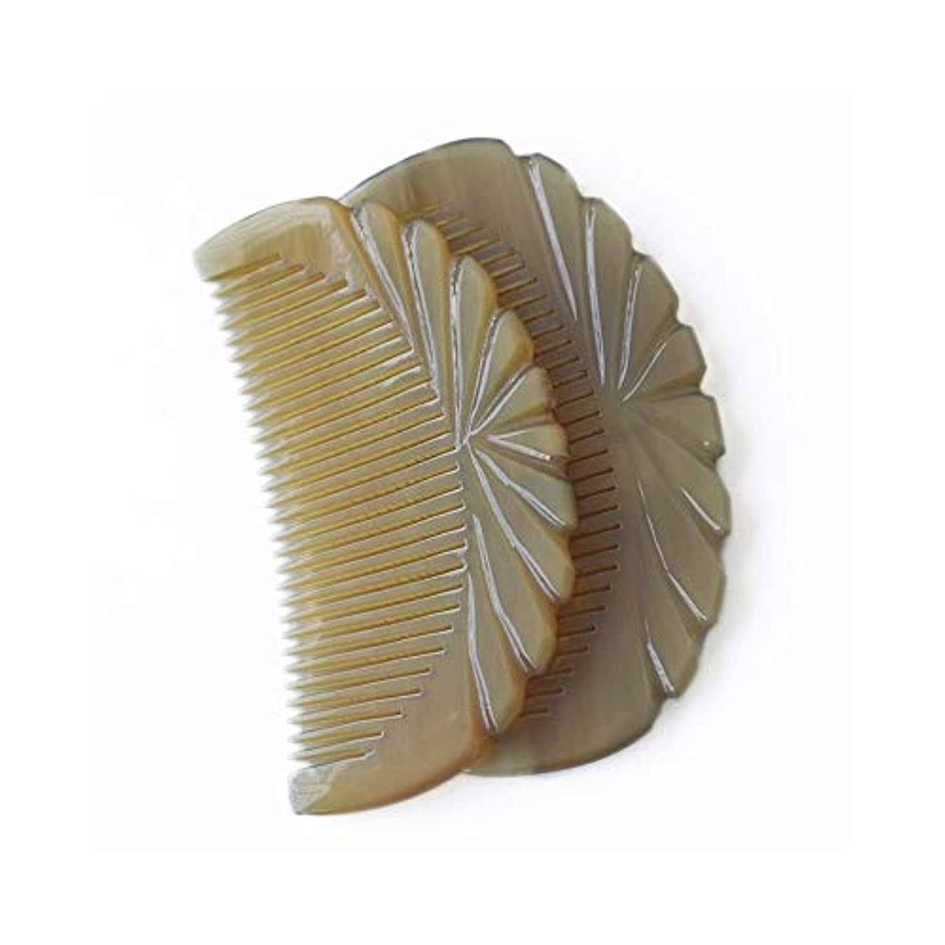 降伏なめらか一人でFashian天然木製くし髪 - もつれ解除とスタイリングウェットまたはドライカーリー、太い、波状、またはストレートヘアナチュラルアンチスタティックウッド ヘアケア