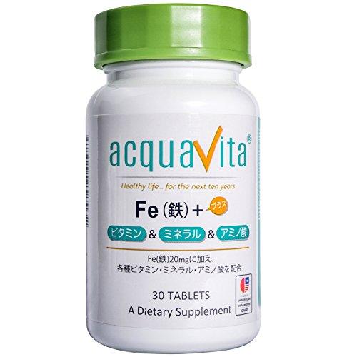 acquavita(アクアヴィータ) Fe(鉄)+ビタミン・ミネラル・アミノ酸 30粒