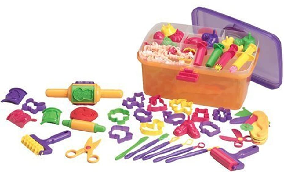 Dough Creativity Case 80 pc. Set with FREE 4 Pack of Play-Doh Brand Modelling Compound