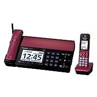 パナソニック デジタルコードレスFAX 子機1台付き スマホ連動 Wi-Fi搭載 ボルドーレッド KX-PD102DL-R