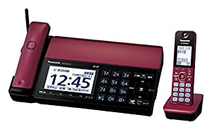 パナソニック デジタルコードレスFAX 親機のみ スマホ連動 Wi-Fi搭載 ボルドーレッド KX-PD102D-R