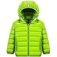 Children Down Jackets 90% White Duck Down Hooded Kids Winter Jackets for Boys Girls Ultra Light Portable Winter Coat