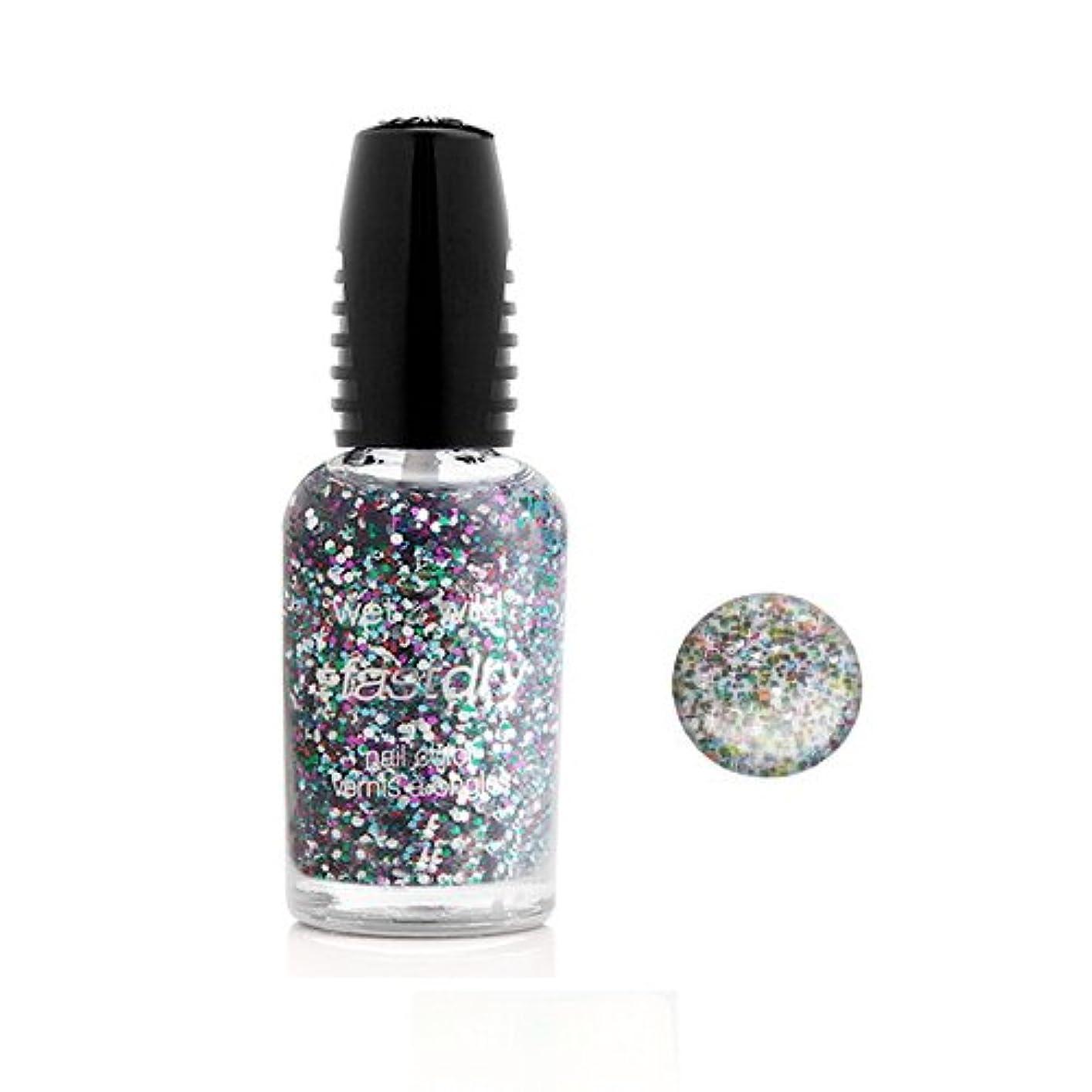 故障散らすウェイド(3 Pack) WET N WILD Fastdry Nail Color - Party of Five Glitters (DC) (並行輸入品)