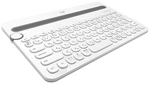Bluetooth マルチデバイスキーボード ホワイト K480WH 1台