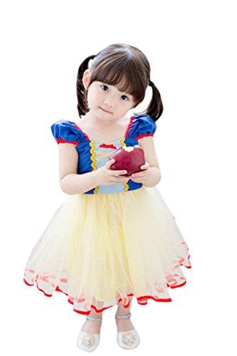 ange select 白雪姫 なりきり キッズ コスチューム 女の子 ドレス ワンピース 子供 変身 プリンセス 衣装 (110cm)