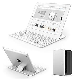 Anker iPad キーボードカバー iPad2 / iPad3 / iPad4 iPad第2世代~iPad第4世代に対応 ウルトラスリムデザイン 日本語説明書付き【18ヶ月保証】 (ホワイト)