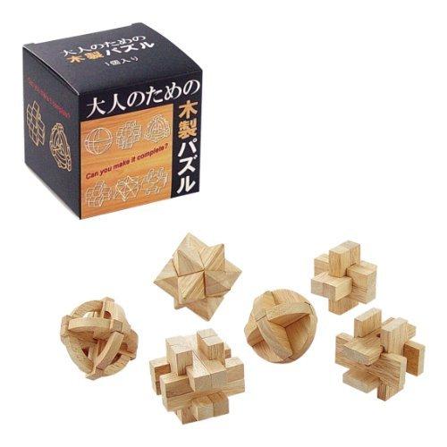大人のための木製パズル(6種アソート)
