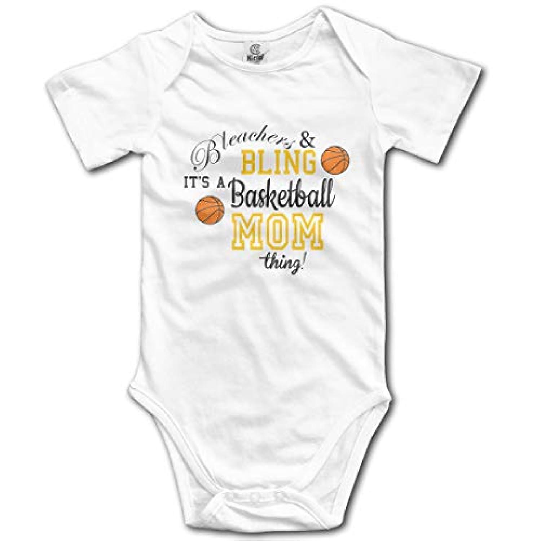 ベビー服 Bleachers Bling Basketball Mom Thing カバーオール 半袖 インナー セット 赤ちゃん 女の子 男の子 肌着 ロンパース 夏服