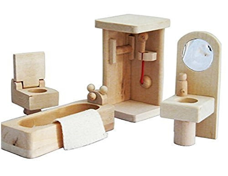 [ XYShoP ] XYShoPミニ木製ドールハウス家具セットバスルーム[並行輸入品]