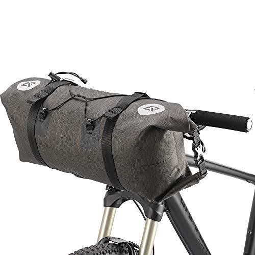 ROCKBROS(ロックブロス)ハンドルバーバッグ 自転車 フロントバッグ 防水 反射 付き セット 大容量