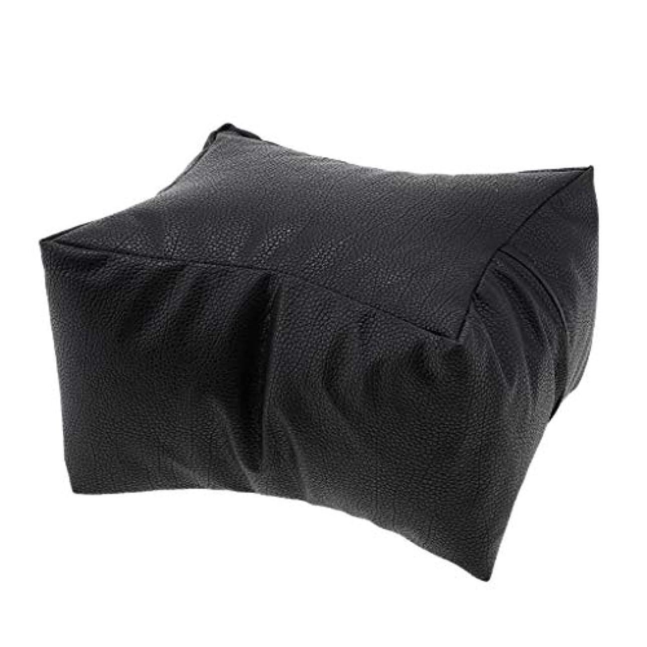 後離婚資産Toygogo 洗える手枕PUレザーアームレストクッションマニキュアツールサロン美容アクセサリー - ブラック