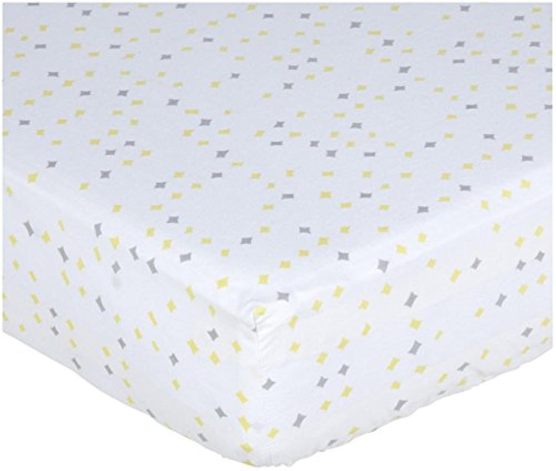Pehr Designs Constellation Crib Sheet Neutral Grey/Yellow by Pehr Designs