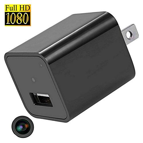 隠しカメラ Heymoko 小型 1080P 長時間録画 録音 防犯カメラ USB-ACアダプター型 ハイビジョンビデオカメラ 高画質 監視カメラ SDカード対応 スパイカメラ日本語取扱